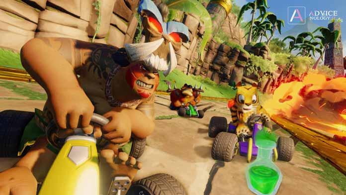 papu crash team racing nitro fueled personaggi nascosti