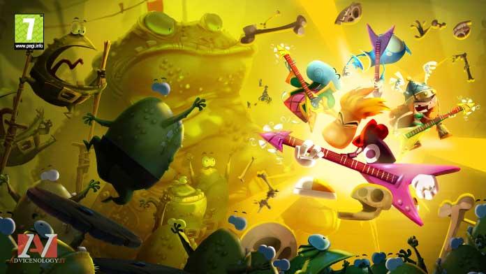 Rayman Legends giochi xbox one bambini pegi 7