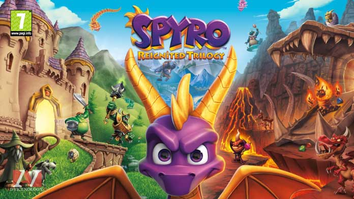 Spyro Trilogy Reignited giochi xbox one bambini pegi 7